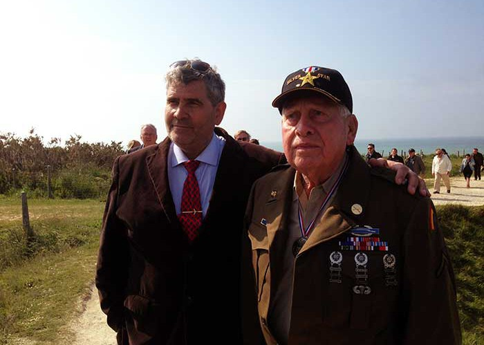 Birney Havey at Pointe du Hoc