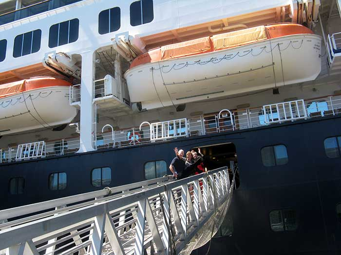 People Boarding Cruise Ship