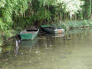 Row Boats on Giverny Pond