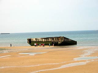 Arromanches - remains of Mulberry Harbor