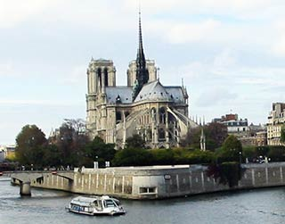 Seine River with Notre Dame Cathedral